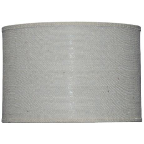 drum shade grey burlap - Drum Shade