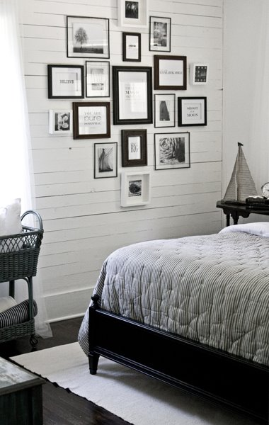 Lettered+Cottage+Guest+Bedroom+Photo+Wall