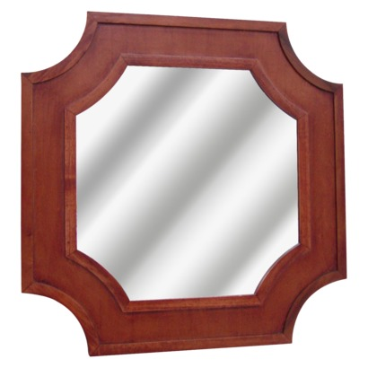 Threshold Carved Wood Mirror