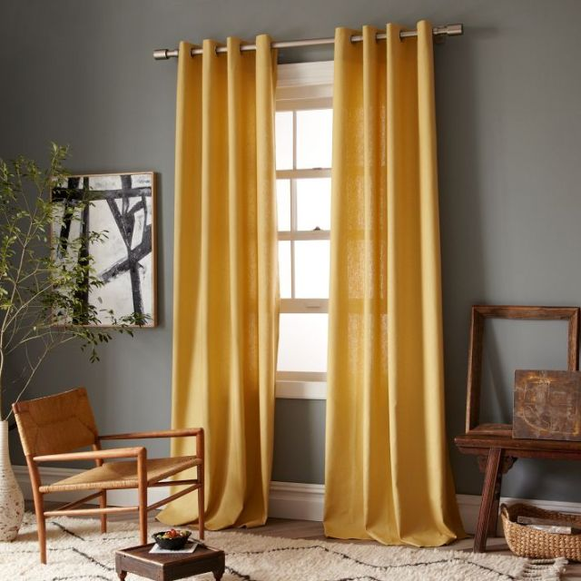 West Elm Marigold Linen Curtains