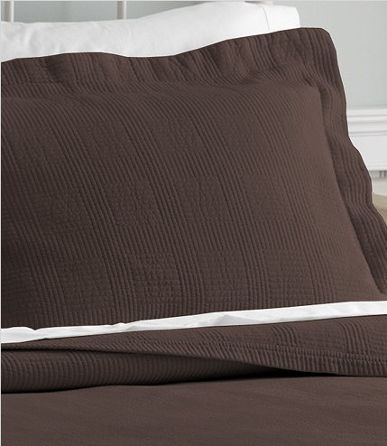 LLBean Vintage Matelasse Bedding - Chocolate Brown