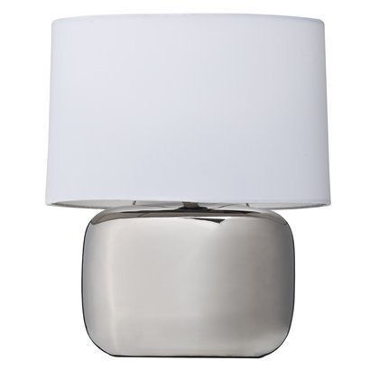 Target Room Essentials Solid Shade Ceramic Silver Lamp