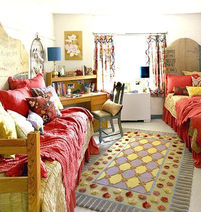 Boho Minimal Dorm Room
