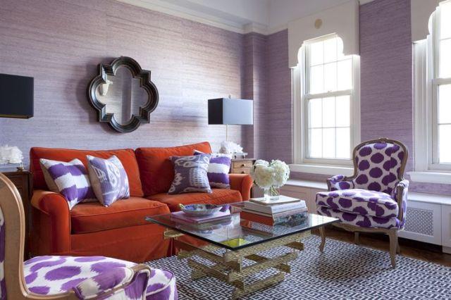 Purple Grasscloth