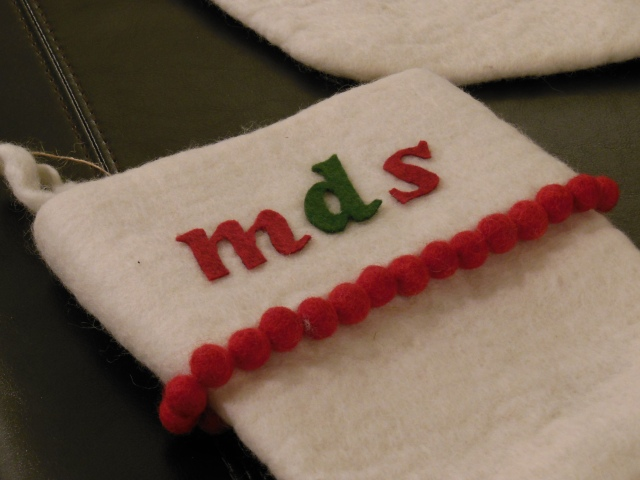 West Elm DIY Workshop: MDS Stocking