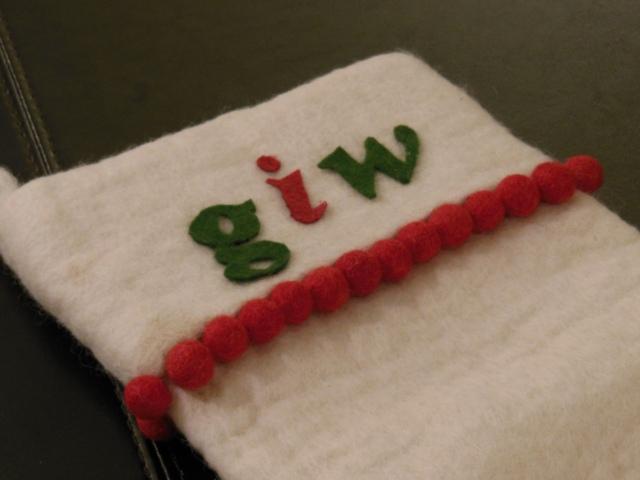 West Elm DIY Workshop: MDS Stocking
