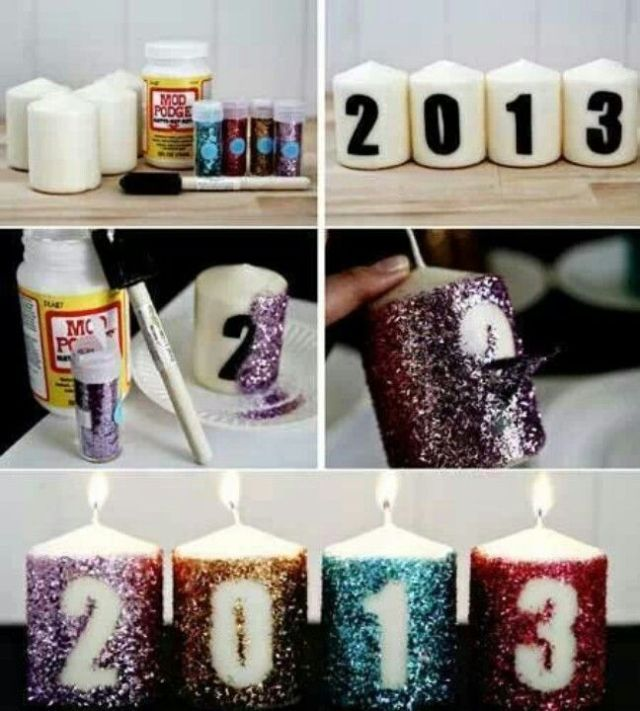 NYE DIY Candles
