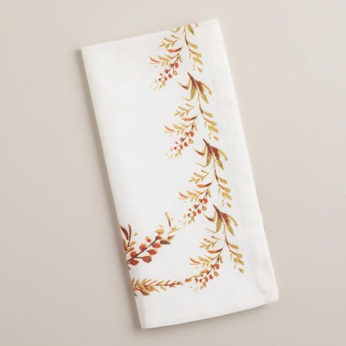 World Market Thanksgiving Napkins
