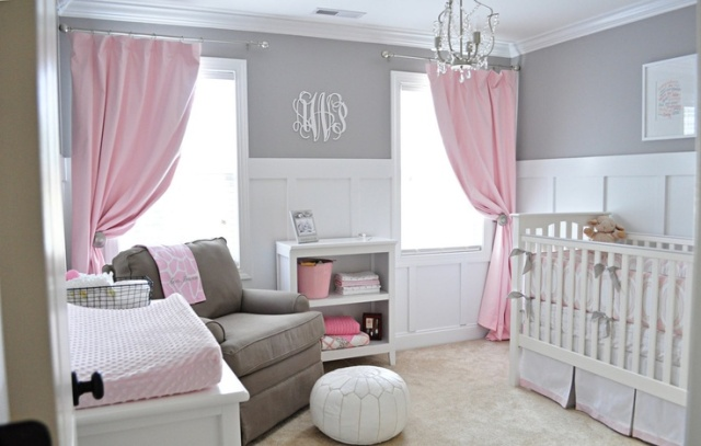 Grey and Pink Glam Nursery
