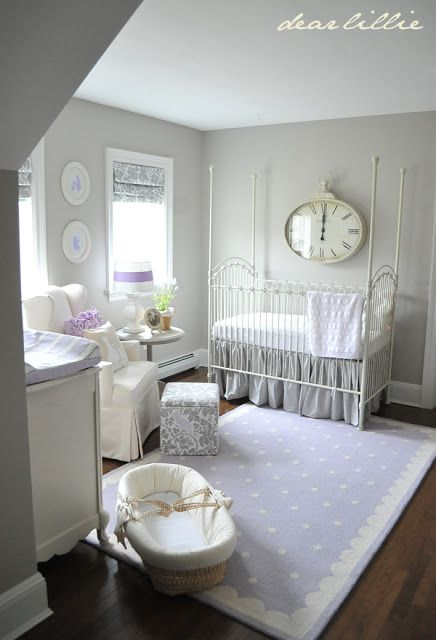 Grey and Purple French Nursery