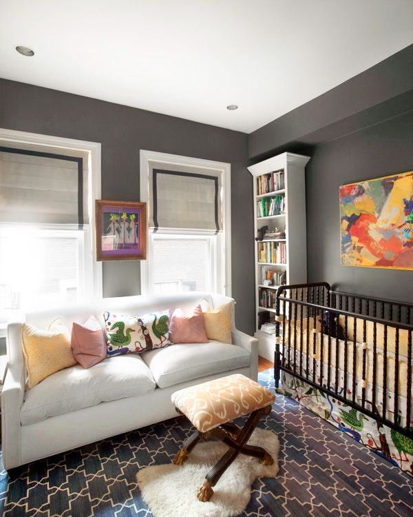 Grey Modern Glam Nursery