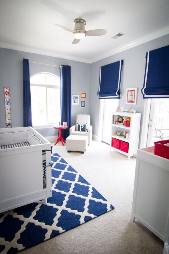 Navy and Red Modern Nursery