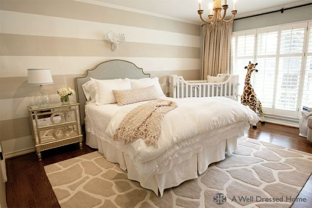 Neutral Glam Combo Nursery Guest Bed
