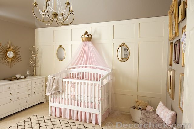 Pink and Gold Princess Nursery