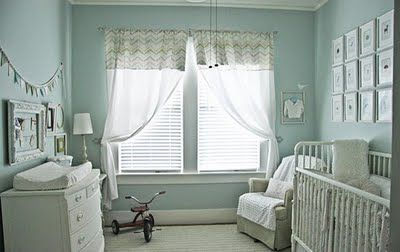 Vintage Pale Blue Nursery
