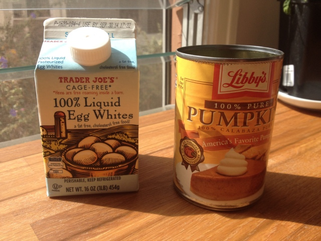 Canned Pumpkin & Egg Whites