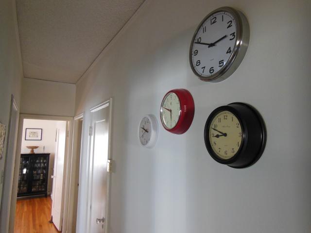 Hallway - Clock Gallery Wall