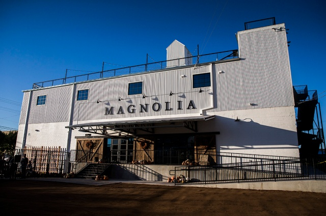 The exterior of a new location of Magnolia Market at the Silos, owned by Chip and Joanna Gaines, hosts of HGTV's Fixer Upper, on Thursday, October 29, 2015 at Magnolia Market at the Silos in Waco, Texas. (Ashley Landis/The Dallas Morning News)